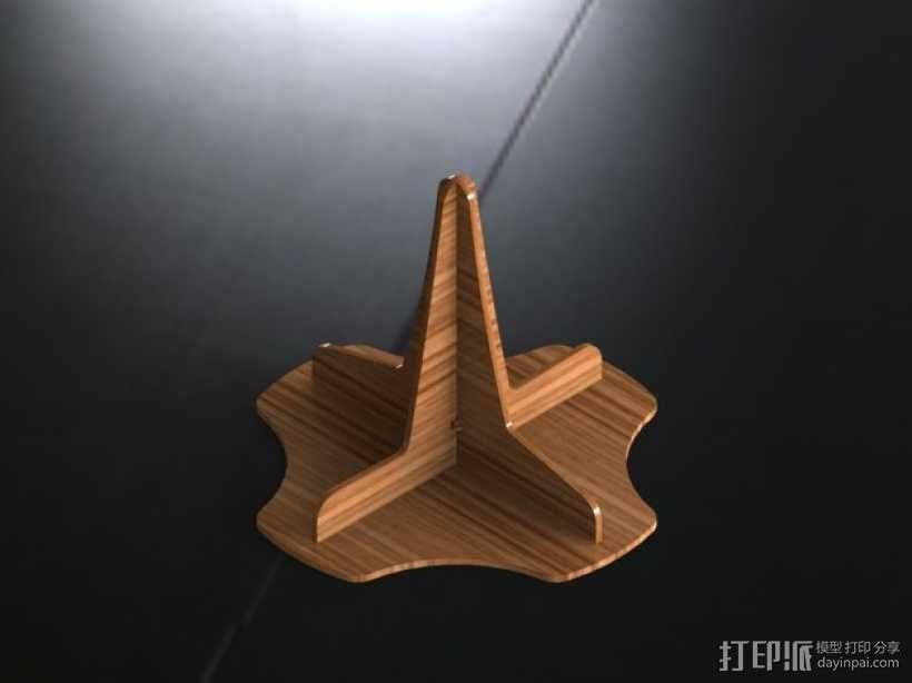 单簧管支架 3D模型  图1
