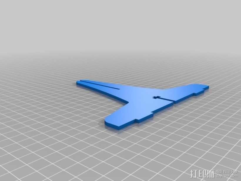 单簧管支架 3D模型  图4