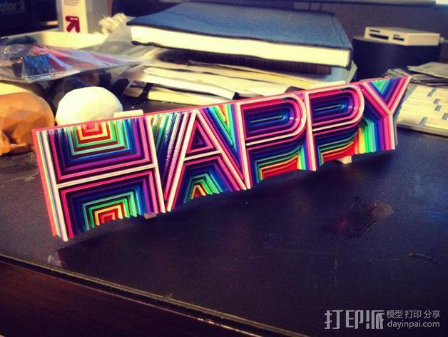 """热浪风——""""Happy"""" 3D模型  图1"""