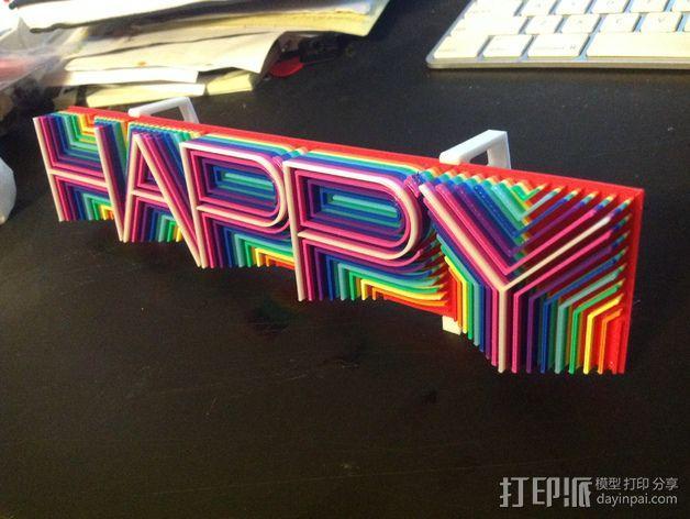 """热浪风——""""Happy"""" 3D模型  图2"""