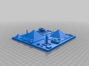 古埃及吉萨金字塔模型 3D模型