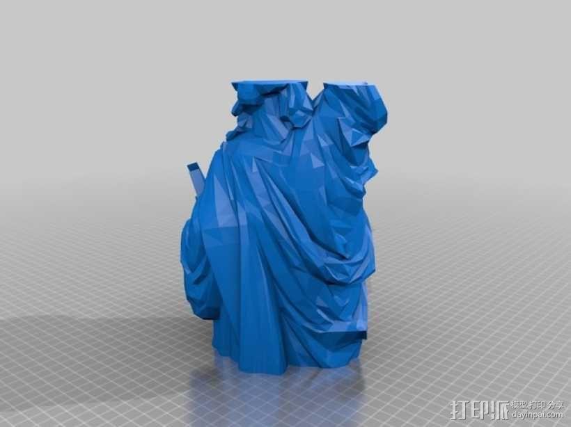 自由女神像 3D模型  图2