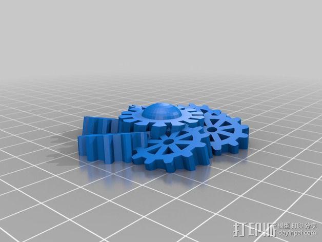 齿轮花 3D模型  图5