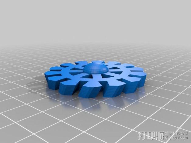 齿轮花 3D模型  图4