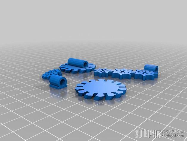 齿轮花 3D模型  图6