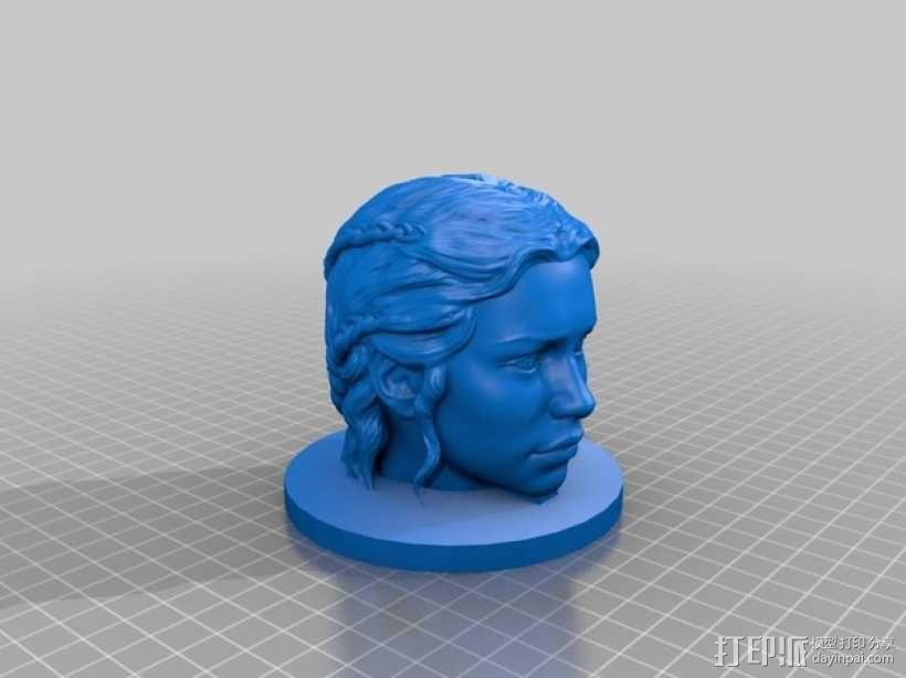 龙之母 雕塑 3D模型  图2