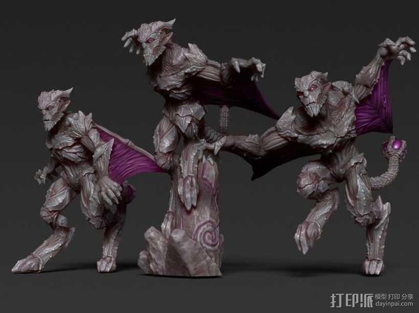 石像鬼雕塑模型 3D模型  图1
