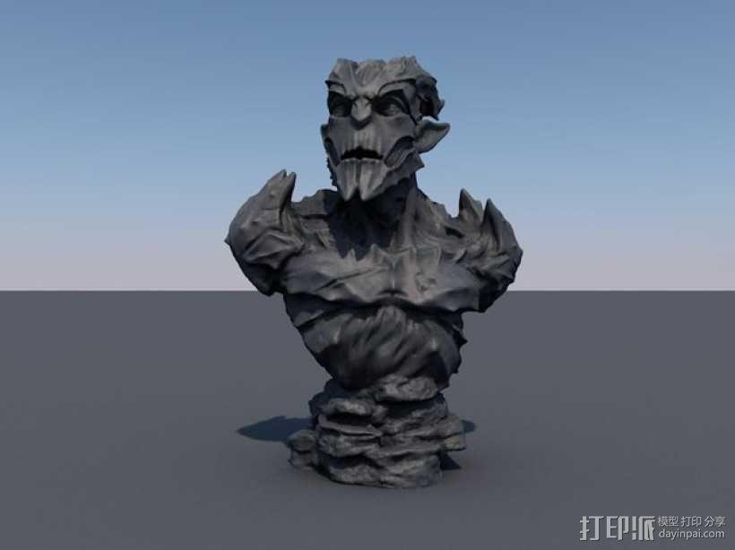 石像鬼雕塑模型 3D模型  图3