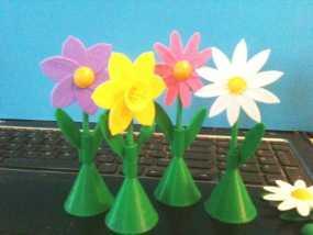 太阳花 彩色花 3D模型