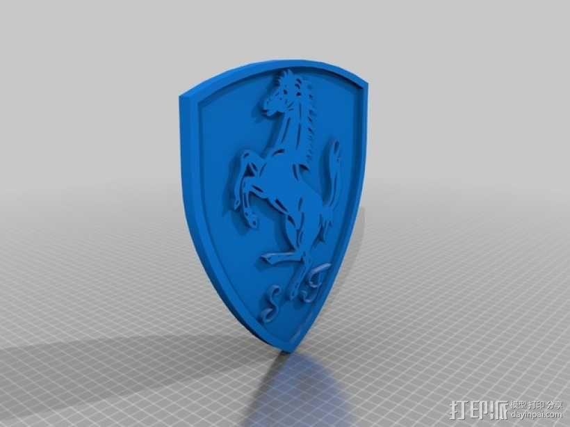 法拉利标志 3D模型  图1