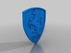 法拉利标志 3D模型