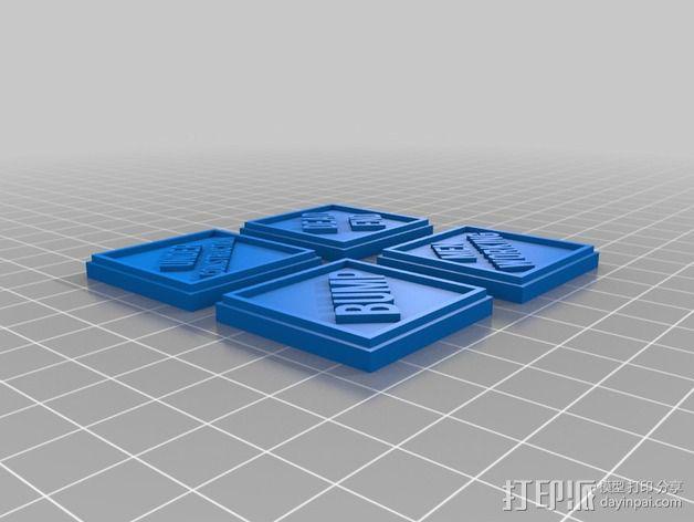 路标型装饰 3D模型  图9