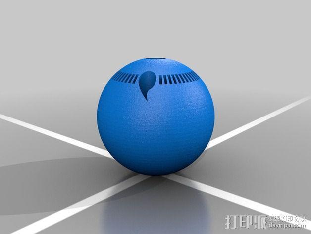写轮眼 3D模型  图1