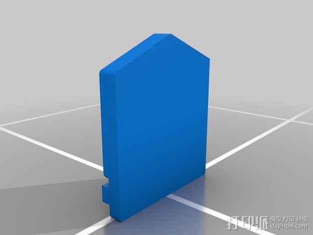 口袋妖怪 门口鸟 标志 3D模型  图1