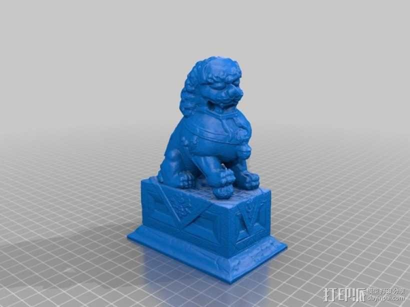 石狮雕像 3D模型  图1