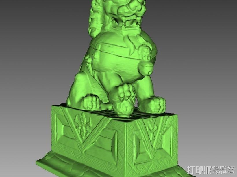 石狮雕像 3D模型  图2