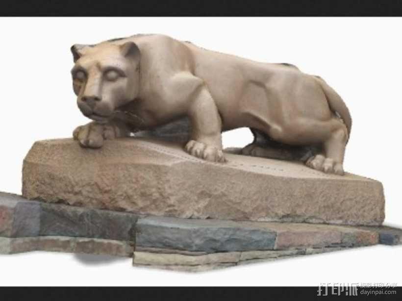 尼特尼狮子雕像 3D模型  图1