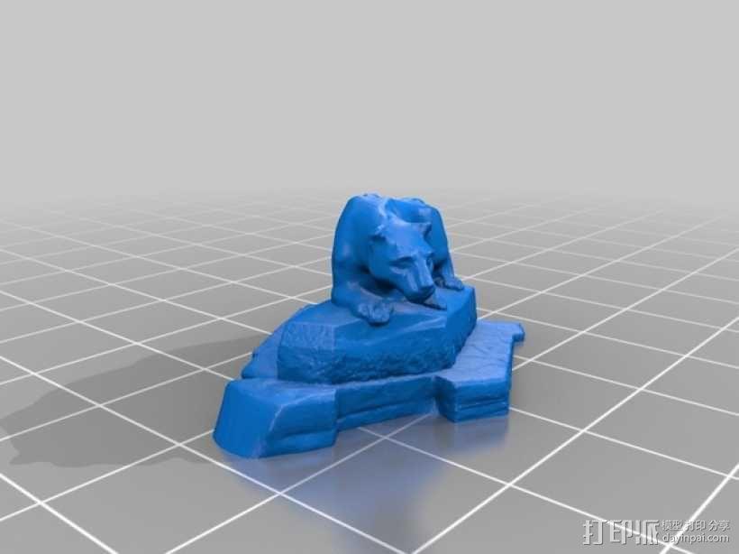 尼特尼狮子雕像 3D模型  图2