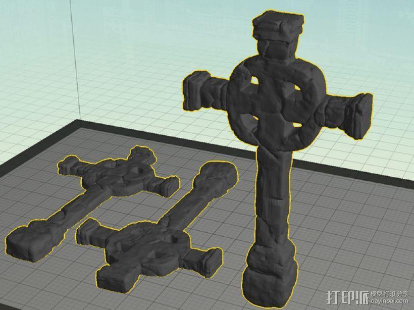 墓室十字架 3D模型  图1