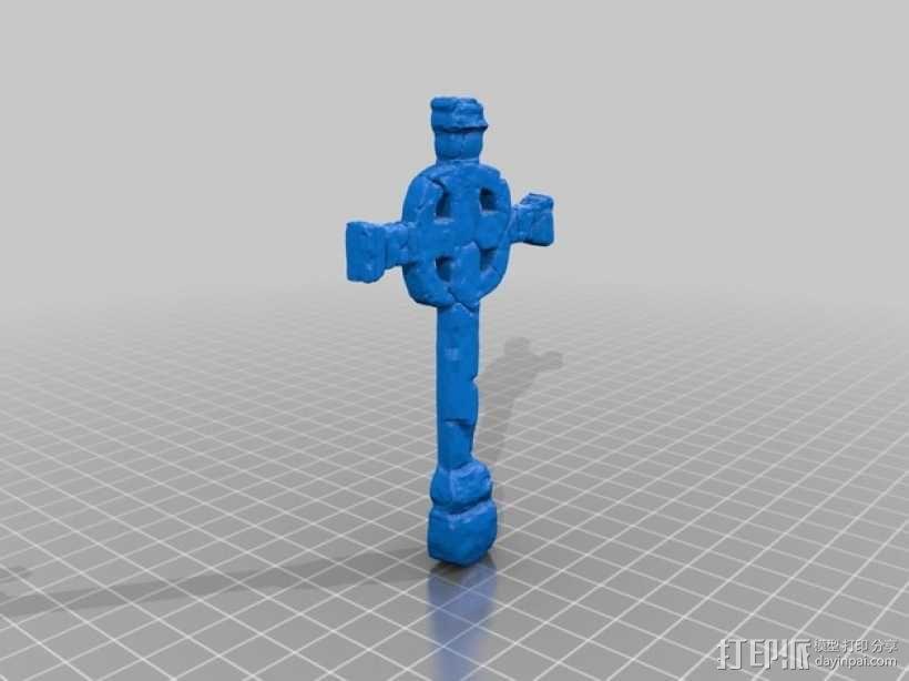 墓室十字架 3D模型  图2