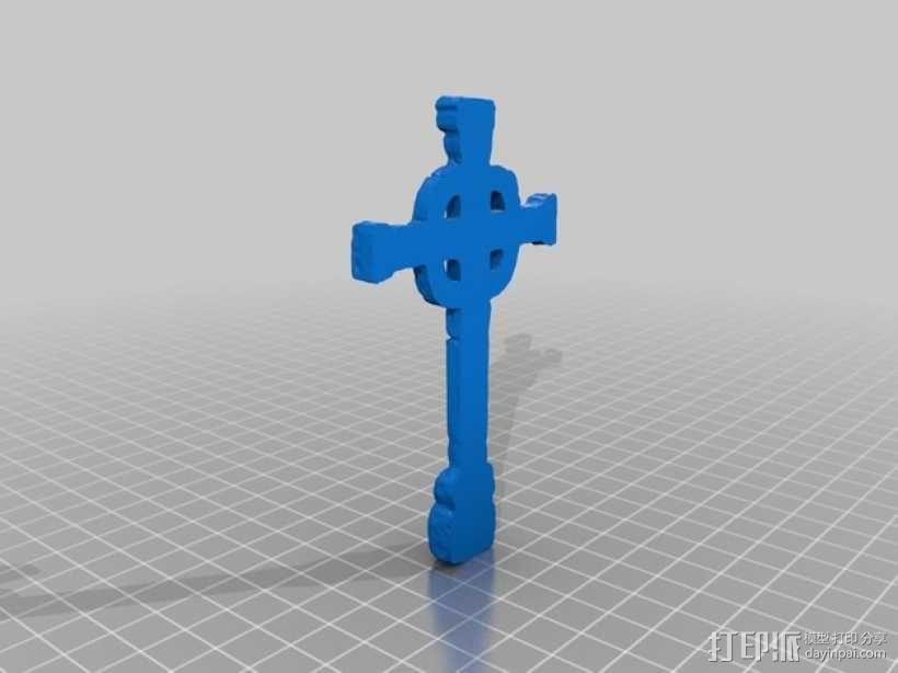 墓室十字架 3D模型  图3