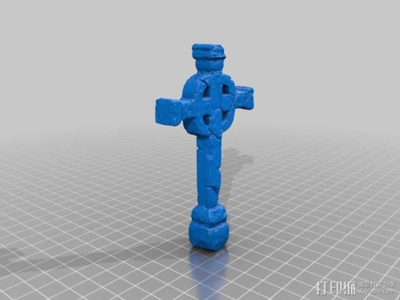 墓室十字架 3D模型  图4