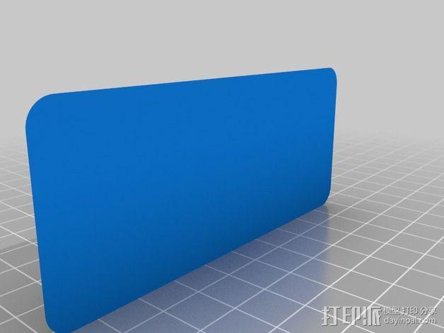 DMC De Lorean徽章 3D模型  图3