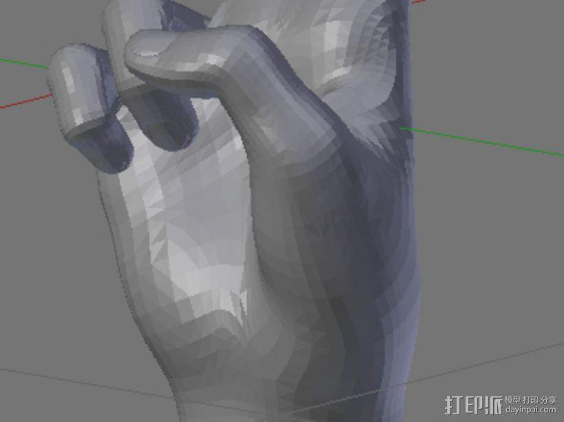 和平手势 3D模型  图4