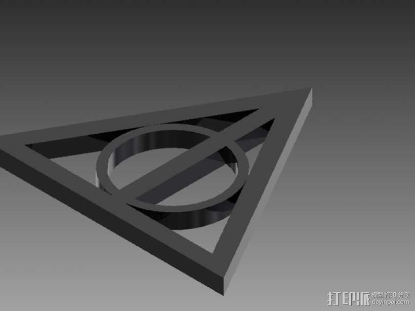 哈利波特死亡圣器标志 3D模型  图1