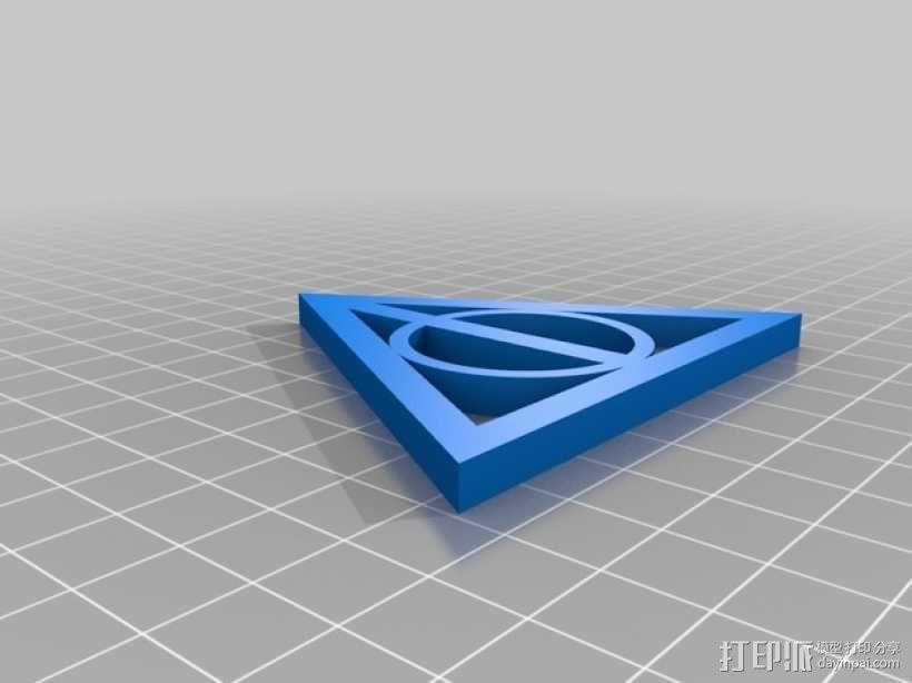 哈利波特死亡圣器标志 3D模型  图2