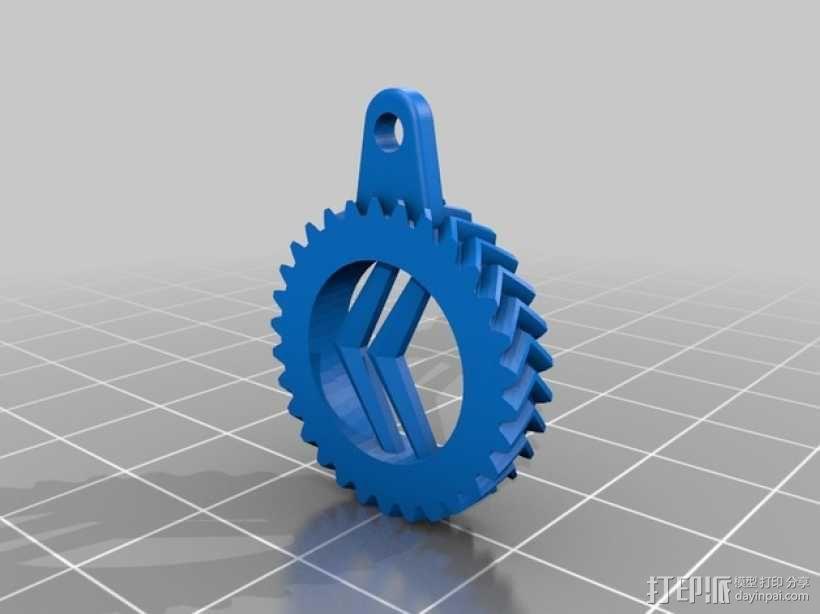 雪铁龙钥匙扣 3D模型  图1
