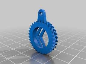 雪铁龙钥匙扣 3D模型