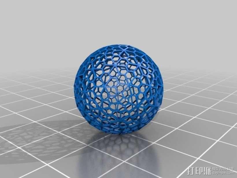 多面体球 3D模型  图1