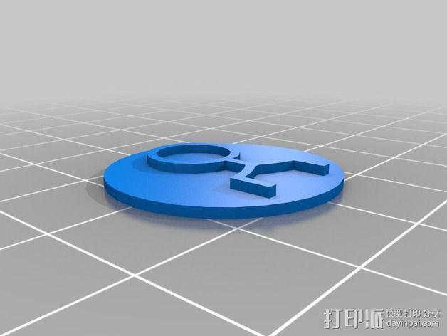 口袋妖怪徽章 3D模型  图7