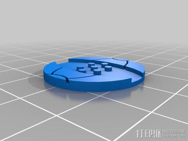 口袋妖怪徽章 3D模型  图10