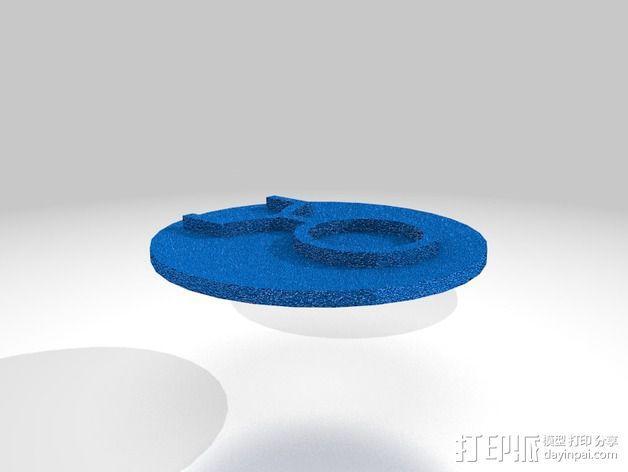 口袋妖怪徽章 3D模型  图23
