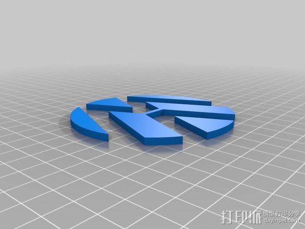 大众汽车标志 托盘 杯托 3D模型  图2