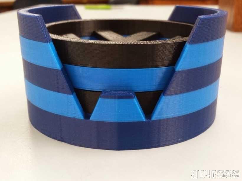 大众汽车标志 托盘 杯托 3D模型  图1