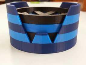 大众汽车标志 托盘 杯托 3D模型