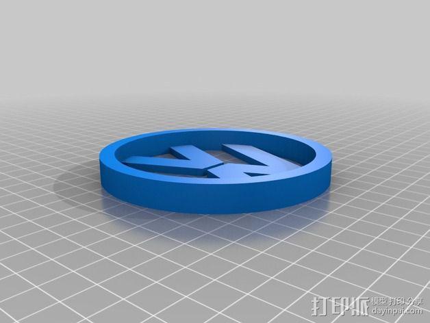 大众汽车标志 托盘 杯托 3D模型  图3