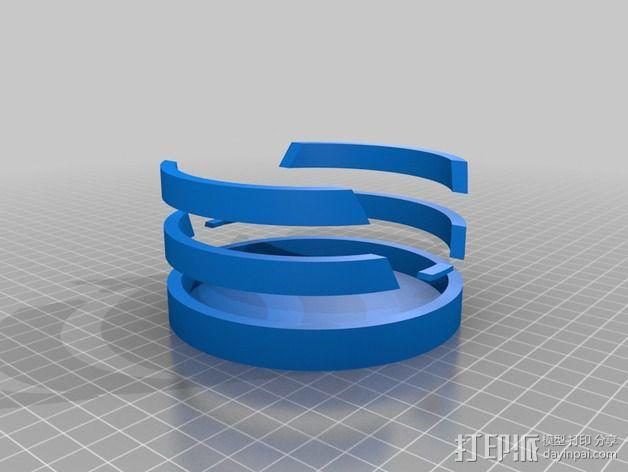 大众汽车标志 托盘 杯托 3D模型  图4