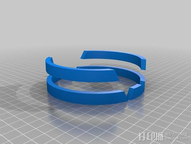大众汽车标志 托盘 杯托 3D模型  图5