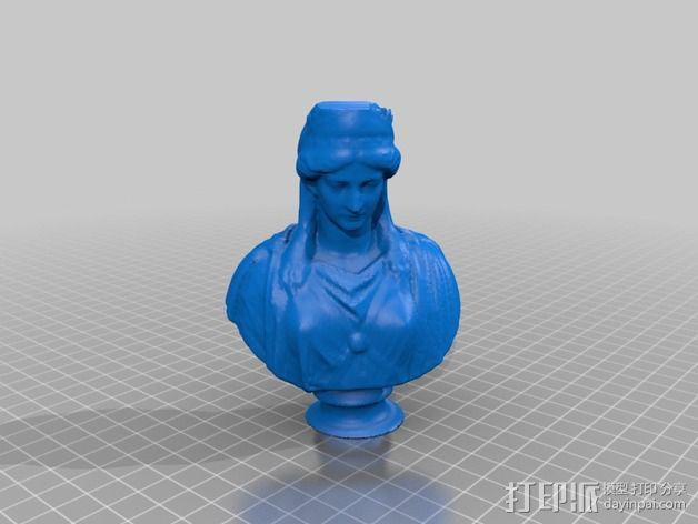 季诺碧亚半身像模型 3D模型  图4