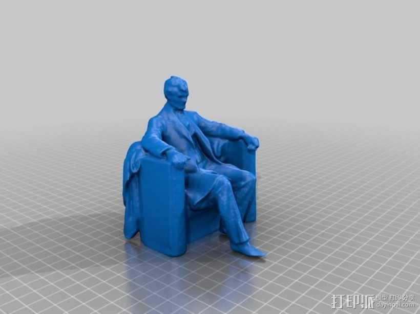 亚伯拉罕林肯雕塑模型 3D模型  图3