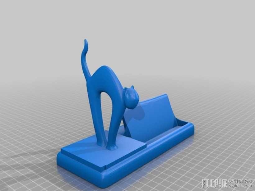 猫咪名片架 3D模型  图4