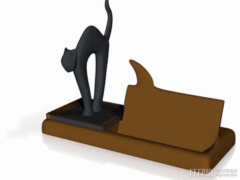 猫咪名片架 3D模型  图3