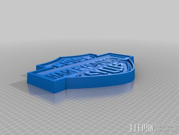 哈雷戴维森商标标志 3D模型  图1