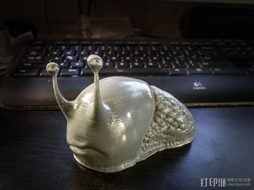可爱的蜗牛丢了壳 3D模型  图1