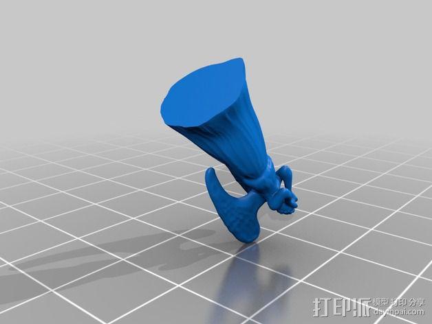 哭泣的天使 3D模型  图2