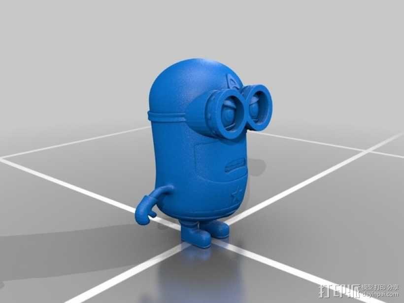 小黄人——美国队长版 3D模型  图2